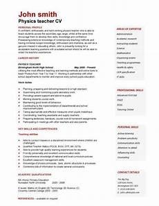 physics teacher resume resume interview pinterest