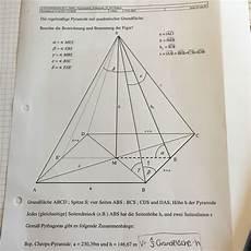 mathe pyramide berechnen schule mathematik
