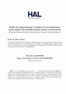 Etude Du Comportement Etude Du Comportement 224 L Impact Et En Compression Apr 232 S