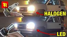 Led Vs Halogen Headlights Before And After