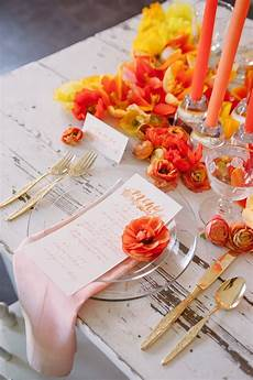 yellow and orange wedding ideas