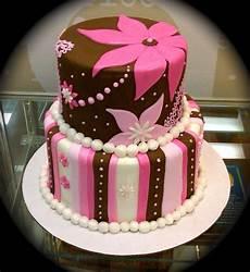 Fondant Torte Kindergeburtstag - brown and pink fondant cake cakecentral