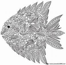 Ausmalbilder Erwachsene Fische Ausmalbild Fisch Mit Vielen Details Kostenlose