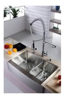 Faucet Sink Kitchen Kraus Khf203 33 Kpf1602 Ksd30ch 33 Inch Farmhouse