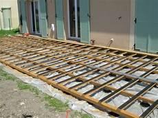 pose terrasse bois poser ma structure de terrasse bois sur g 233 otextile bois