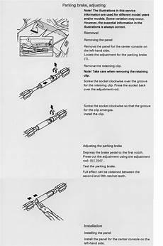 adjuster xc90 handbrake adjuster