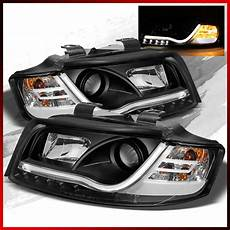 fits 2002 2005 audi a4 s4 projector headlights r8 style led lights pair ebay
