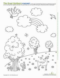 nature worksheet for kindergarten 15159 fall activity worksheets for sketch coloring page