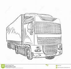 Ausmalbilder Container Lkw Delivery Service Truck Stock Vector