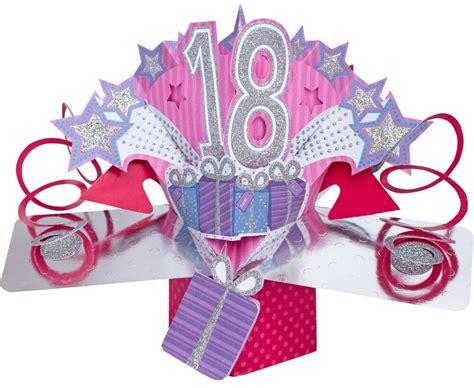 3d Pop Up Card Happy 18th Birthday Girl Celebration 18