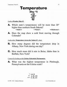 temperature worksheets for 5th grade teaching temperature worksheets 3rd 4th 5th grade
