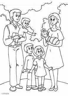 malvorlage 5 vaters neue familie kostenlose
