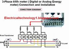 how to wire a 3 phase kwh meter installation of 3 phase energy meter