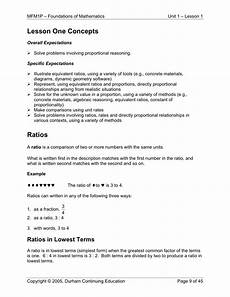 measurement and proportional reasoning worksheets 1581 grade 9 applied math 1 1 ratios and rates barr