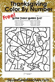 thanksgiving division worksheets 4th grade 6686 thanksgiving color by number evens sort squarehead teachers