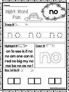 25 fountas and pinnell kindergarten sight word worksheets preschool kdg workshe