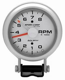 auto meter 3781 sport comp silver tachometer autoplicity