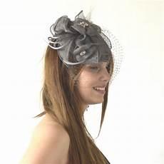 serre tete voilette bibi voilette gris moyen pour mariage c 233 r 233 monie soir 233 e