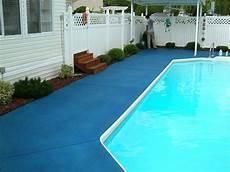 trojan color pool deck ocean blue in 2019 patio pictures concrete color concrete pool