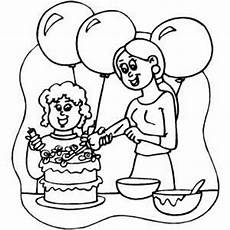 decorating cake coloring page