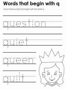 letter tracing worksheets q 23275 qu blends trace the word letter q worksheets blends worksheets writing practice worksheets