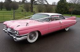 1959 Pink Cadillac Coupe De Ville  American Wedding Cars