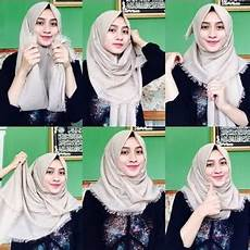 Tutorial Modern Pashmina Rawis Simple Trend