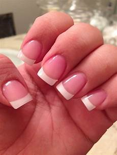 classic french tip acrylic nails french tip acrylic
