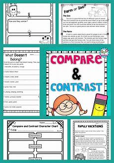 compare and contrast printables posters and reading