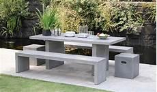 salon de jardin en beton salon de jardin design ciment effet b 233 ton 1 table 6 8