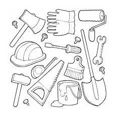 construction tools coloring pages tools theme coloring