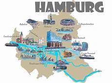 Hamburg Sehenswürdigkeiten Karte - quot hamburg highlights sehensw 252 rdigkeiten karte quot