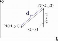 abstand zweier punkte berechnen abstand zweier punkte