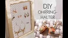 diy ohrring halter