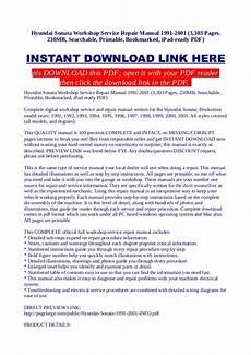 car owners manuals free downloads 2001 hyundai sonata interior lighting hyundai sonata workshop service repair manual 1991 2001 3 303 pages