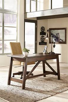 home office desks furniture baldridge rustic brown home office large leg desk