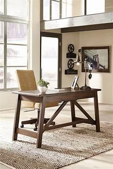 home office desks furniture baldridge rustic brown home office large leg desk