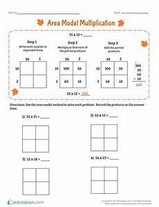 area model division worksheets 4th grade 6691 area model multiplication worksheet education