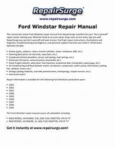 online auto repair manual 1998 ford windstar parental controls ford windstar repair manual 1995 2003