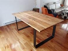 Quot Collection Industriel Quot Table Bois De Grange Et Acier