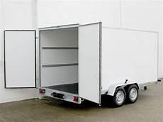 pkw anhänger koffer pkw anh 228 nger koffer 200x400cm h 246 he190cm 2 7t 100kmh