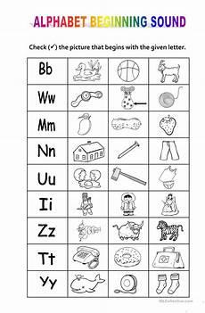 letter sound worksheets kindergarten 23182 alphabet beginning sound worksheet free esl printable worksheets made by teachers