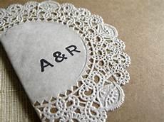 raechel alex s crafty doily and kraft paper wedding