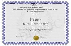 Diplome De Meilleur Sportif