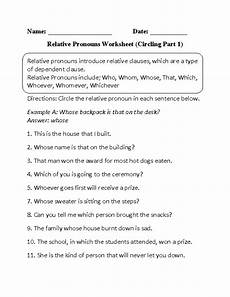 14 best images of identifying pronouns worksheets answer key indirect object pronouns