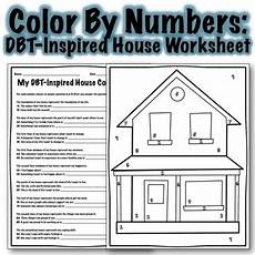 dbt house inspired color by number worksheet by whimsy in school counseling