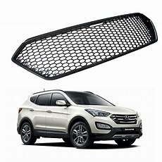 Front Bonnet Tuning Grille Honeycomb Black For Hyundai