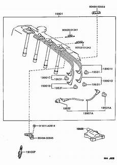 1996 rav4 wiring diagram toyota rav4 spark wire set cord set coil and spark with resistive 9091922400