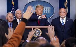 Image result for trump press cornoavirus press conference image