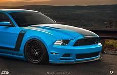 striking grabber blue mustang boss 302 gets ccw wheels